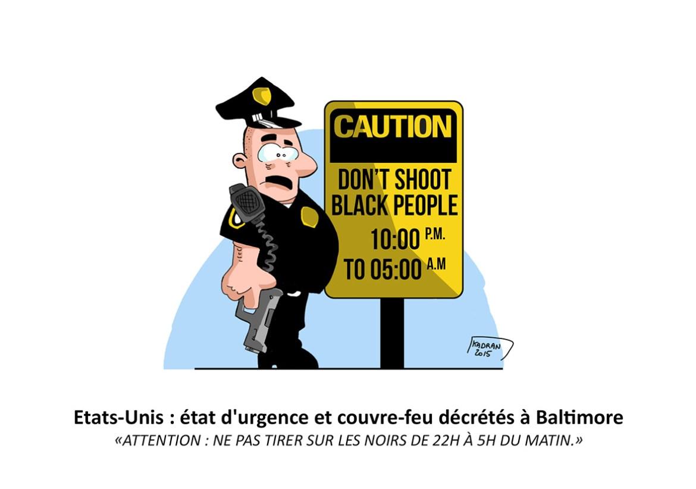 Couvre feu à Baltimore
