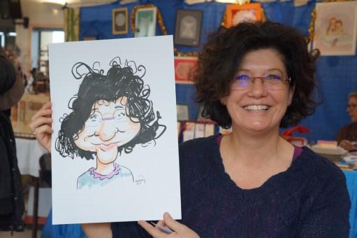 Marché de Noël de Trangé (72) en caricatures