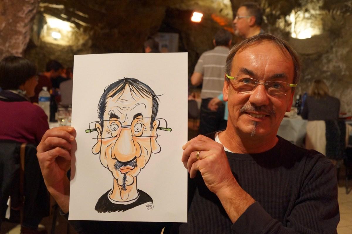 EDF Bourgueil en caricatures