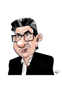 Jean-Luc Mélenchon caricature