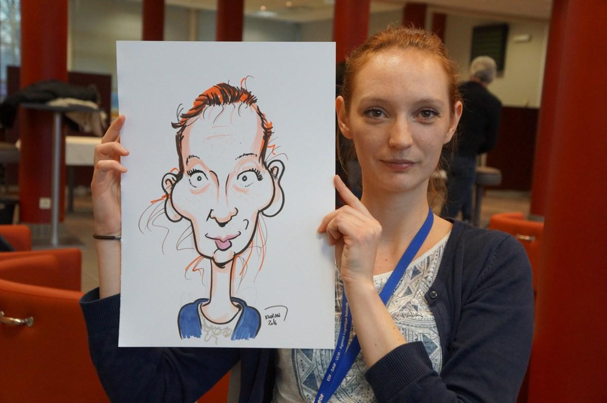 Les employé(ées) en caricatures à EDF Saint-Leu-d'Esserent