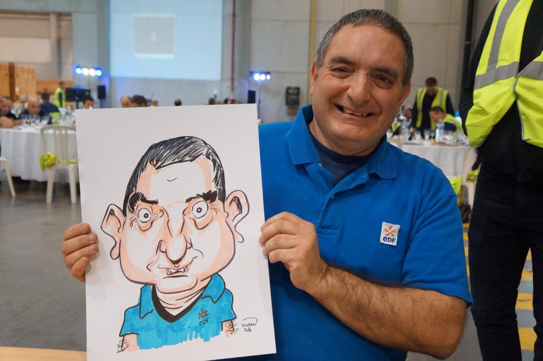 Les employé(ées) en caricatures à EDF Velaines, Meuse (55500)