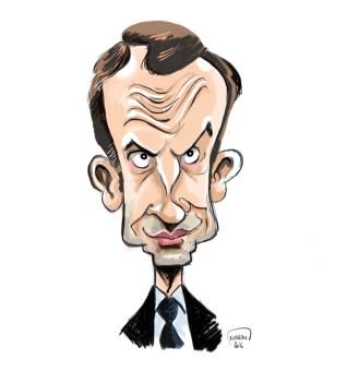 En marche ! pour la caricature d'Emmanuel Macron