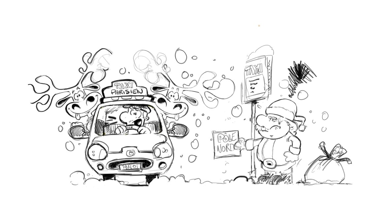 crayonné sketch pour la dernière case pour le Comic