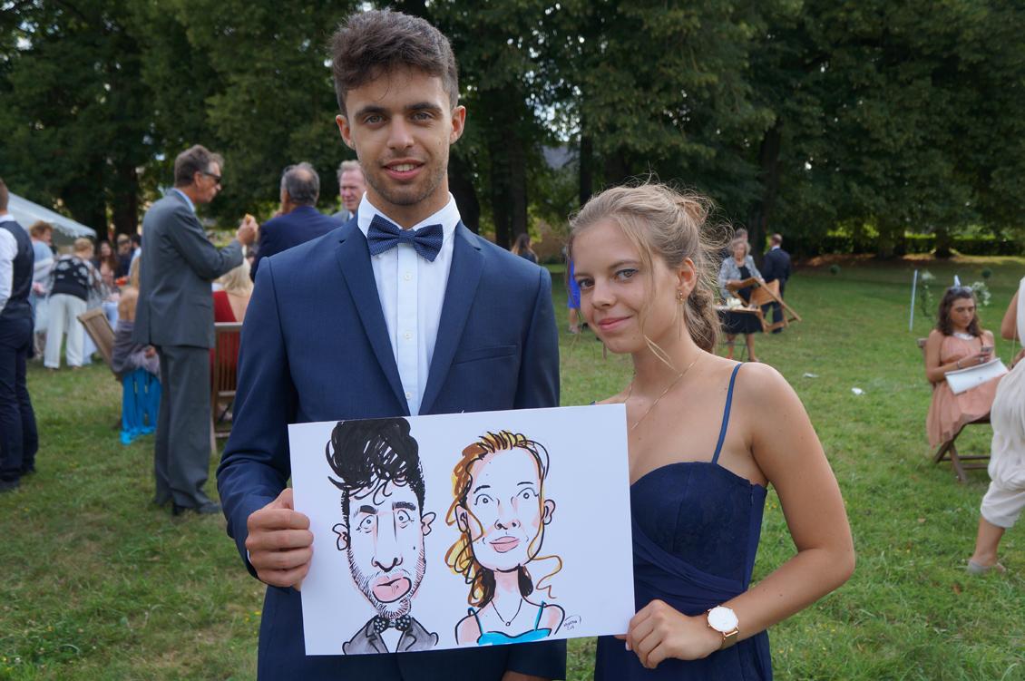 Mariage en caricatures d'Agathe et Taylor