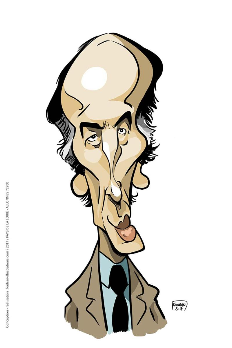 Valéry Giscard d'Estaing caricature
