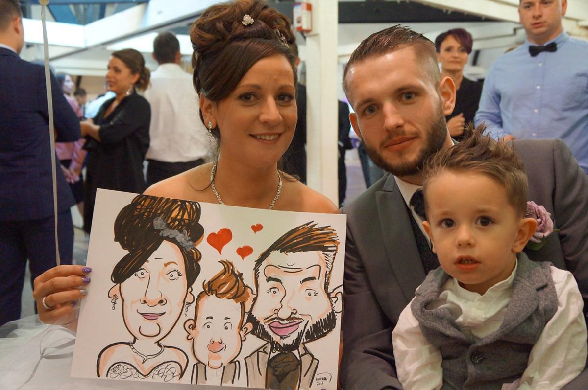 Mariage en caricatures d'Elodie et Alan