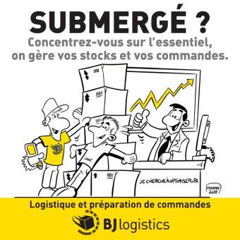 Publicité illustrée pour BJ LOGISTICS
