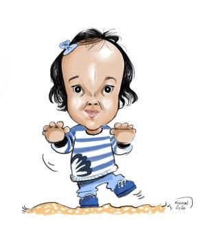 Votre enfant en caricature personnalisée