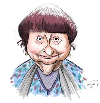 Agnès Varda caricature sketch