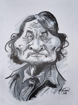 Caricature Géronimo au feutre et marqueur