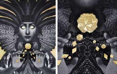 Left-Dan-Hillier-Sorceress-2016-Right-Dan-Hillier-Sorceress-detail-2016