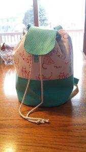 LORAINE BUCKET BAG - with adjustable straps