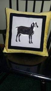 CUSTOM EMBROIDERED PILLOW - front