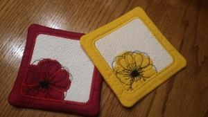 EMBROIDERED COASTERS