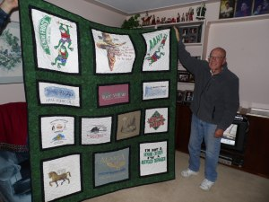 CUSTOM T-SHIRT QUILT - Pieced by Kadydid Studio