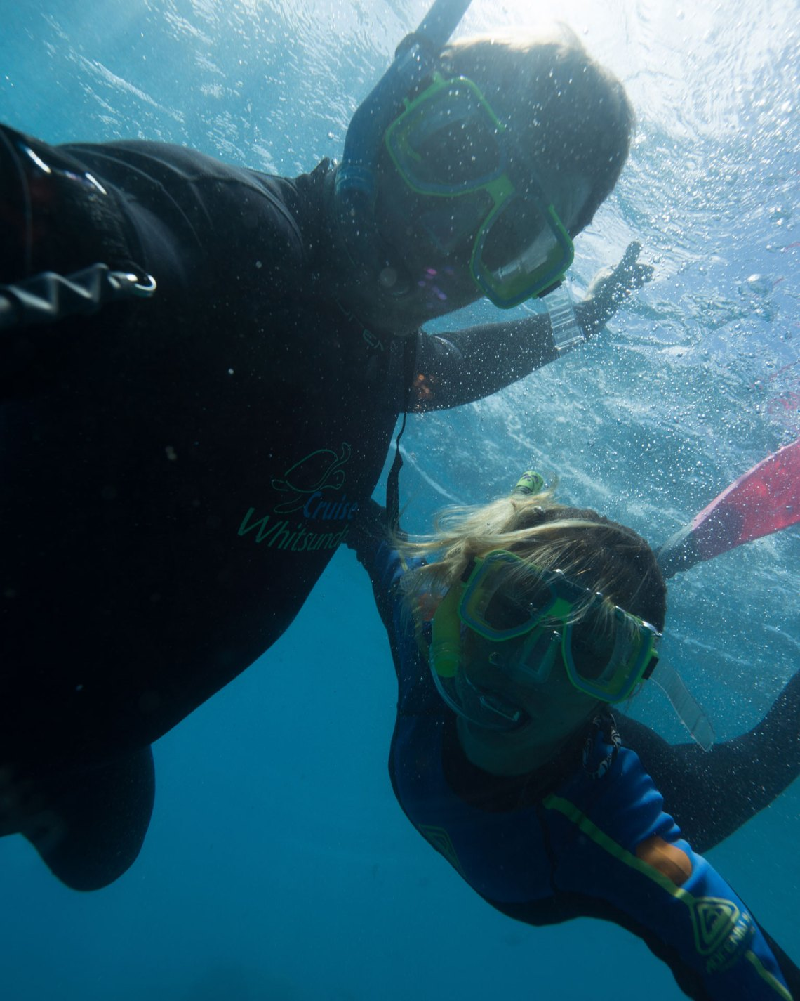 Kaede and James Snorkelling In The Whitsundays