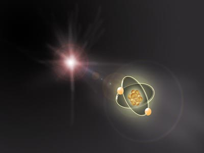 Artist Rendering of Iron Ionization of Citrine Molecule