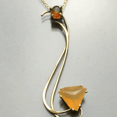 Keeper of the Flame Fire Opal Pendant