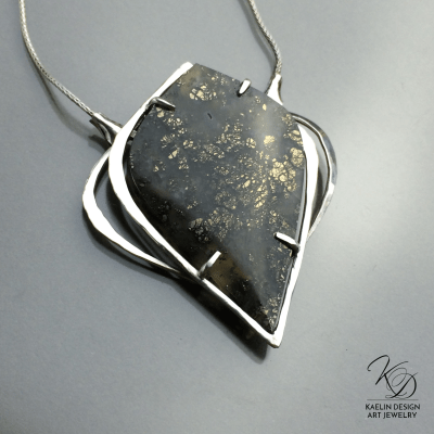 Interstellar Marcasite Fine Art pendant by Kaelin Design