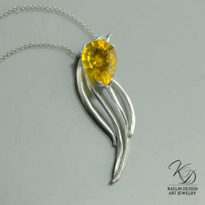 Sunlight Yellow Fluorite Pendant by Kaelin Design