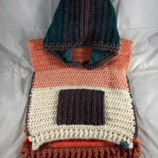 fall fun hooded baby poncho