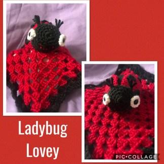 Ladybug Baby Lovey Blanket