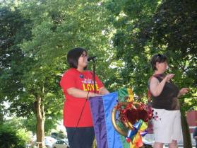 Speaking at the DOMA victory rally in Rochester - 2013