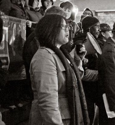 Speaking about the first amendment at an Occupy Rochester protest - 2011
