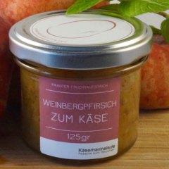 Käsemarmelade Weinbergpfirsich