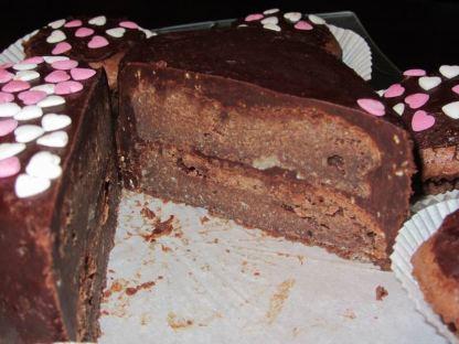 le gâteau est un peu compact mais treès bon du coup je vous conseille de faire des petites parts ^^