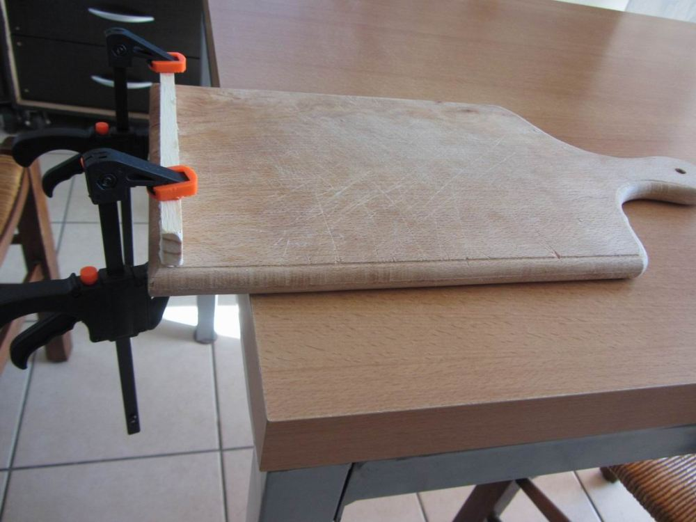 Support tablette en bois DIY (3/6)