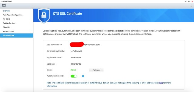 ติดตั้ง SSL Certificate ฟรีให้ QNAP NAS ใช้ myQNAPcloud แบบปลอดภัย 4