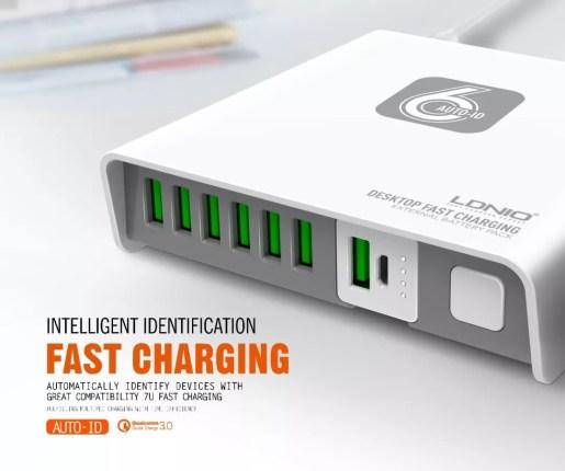 รีวิว LDNIO Desktop Fast Charging รุ่น A6802 6 พอร์ต 40 วัตต์ 11