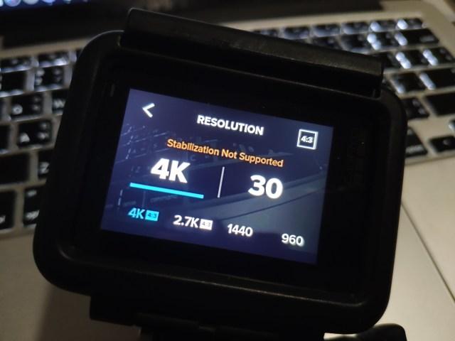 พอจะถ่ายวิดีโอ 4K ที่สัดส่วน 4:3 แล้ว HyperSmooth ใช้ไม่ได้จ้า