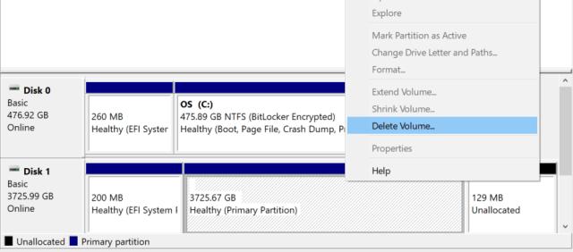 การ Delete volume ของฮาร์ดดิสก์ที่เป็น HFS+ เพื่อเตรียมพร้อมสำหรับการฟอร์แมต