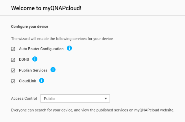 เลือกเปิดใช้บริการบน QNAP NAS