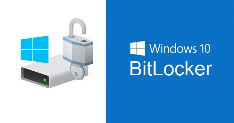 หน้ากราฟิกแนะนำฟีเจอร์ BitLocker ของ Windows 10