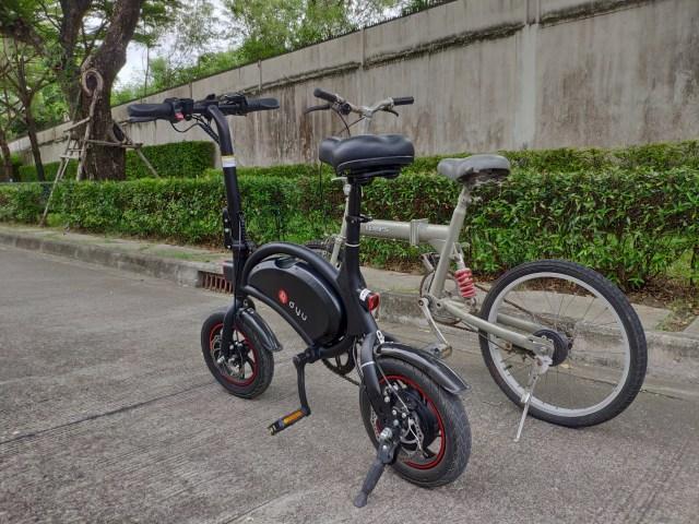 จักรยานไฟฟ้า DYU D2F เทียบกับจักรยานพับแบบญี่ปุ่น