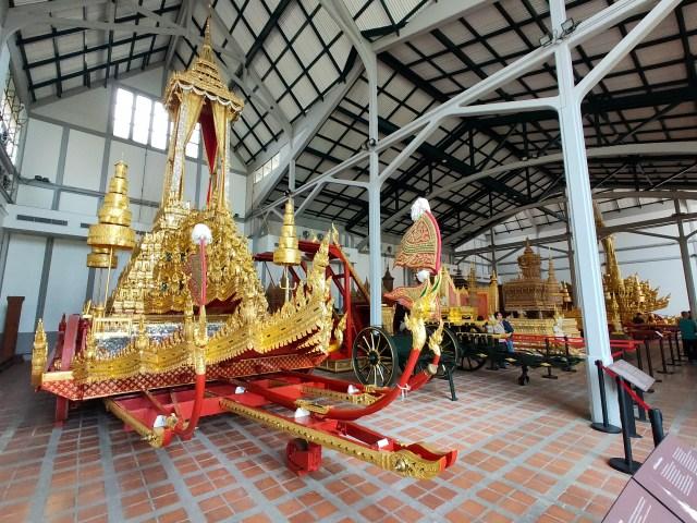 พระมหาพิชัยราชรถ ในโรงราชรถ ณ พิพิธภัณฑ์สถานแห่งชาติ