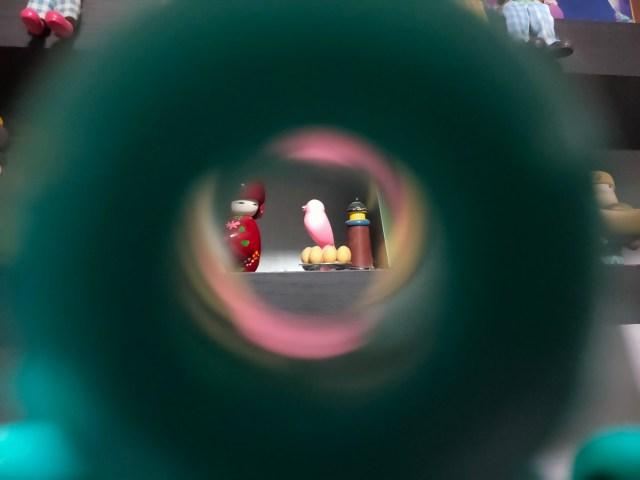 ภาพที่มองเห็นผ่าน View finder ของกล้อง Escura Instant 60s