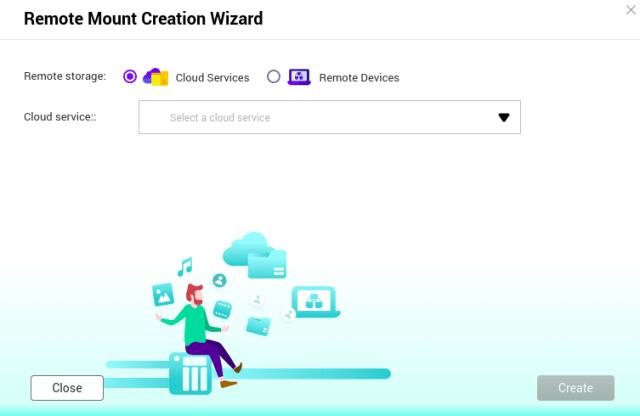 หน้าจอ Remote Mount Creation Wizard ของ HybridMount