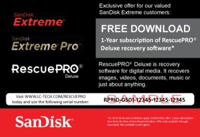 ภาพตัวอย่างคูปองโปรโมชันฟรีซอฟต์แวร์ RescuePRO Deluxe 1 ปี