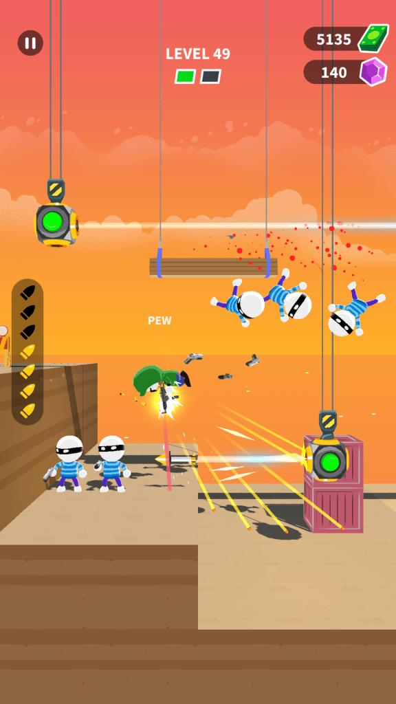 ภาพตัวอย่างจากเกม Johnny Trigger