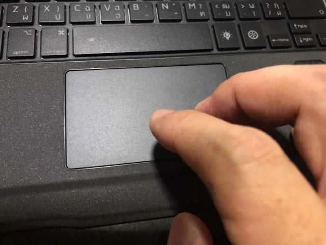 TouchPad ของ Genius Keyboard รุ่น Folio