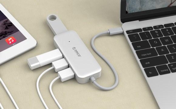 ตัวอย่างการใช้งาน Orico Type-C USB 3.0 Hub TC4U-U3