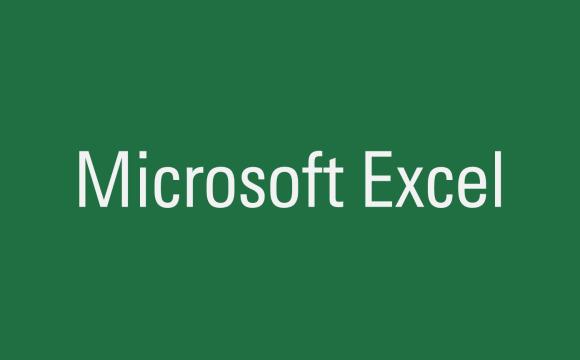 คำว่า Microsoft Excel บนพื้นหลังสีเขียว