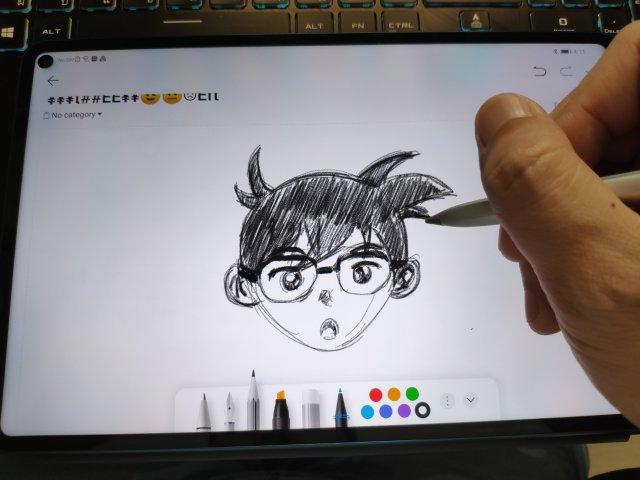 ลองวาดรูปด้วยแอป Notepad ของ Huawei MatePad Pro 5G