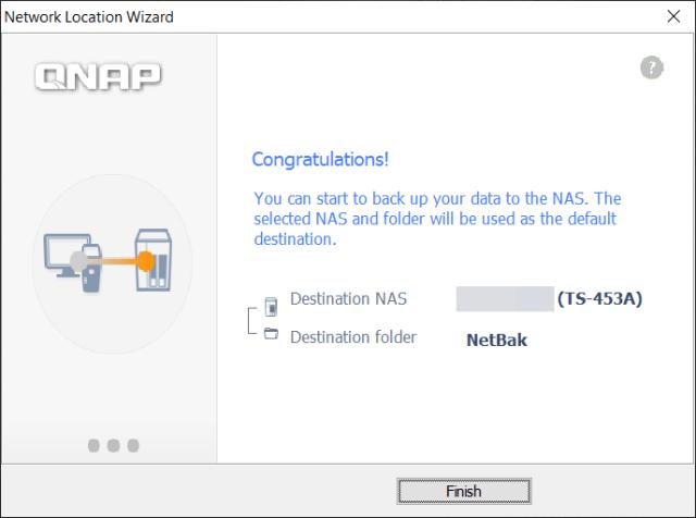หน้าจอเสร็จสิ้นการตั้งค่าเริ่มต้นของโปรแกรม NetBak Replicator
