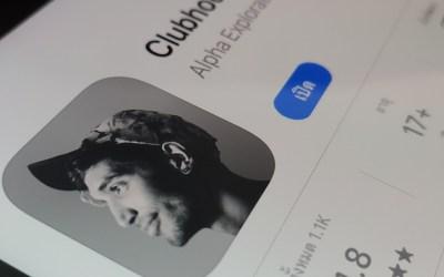 หน้าจอดาวน์โหลดแอป Clubhouse บน Apple Store
